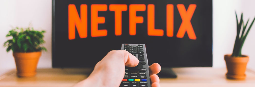 netflix tv and a remote controller